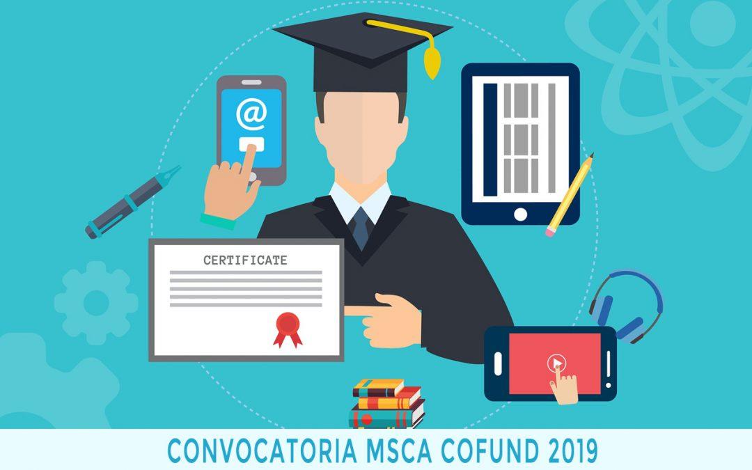 La convocatoria MSCA COFUND 2019 cierra su plazo en septiembre
