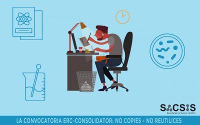 ¿Presentas una propuesta a ERC Consolidator? No reutilices ni copies