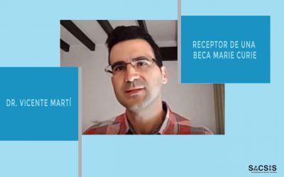 Entrevista al Dr. Vicente Martí Centelles, receptor de una beca Marie Curie