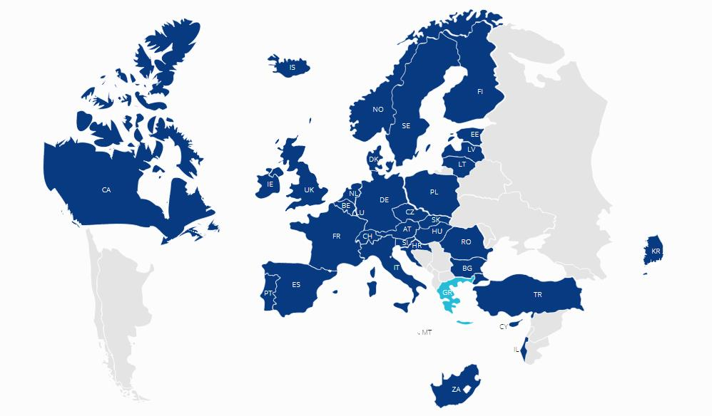 Mapa países Eurostars