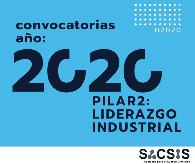 Últimas convocatorias H2020 del Pilar 2: Liderazgo Industrial