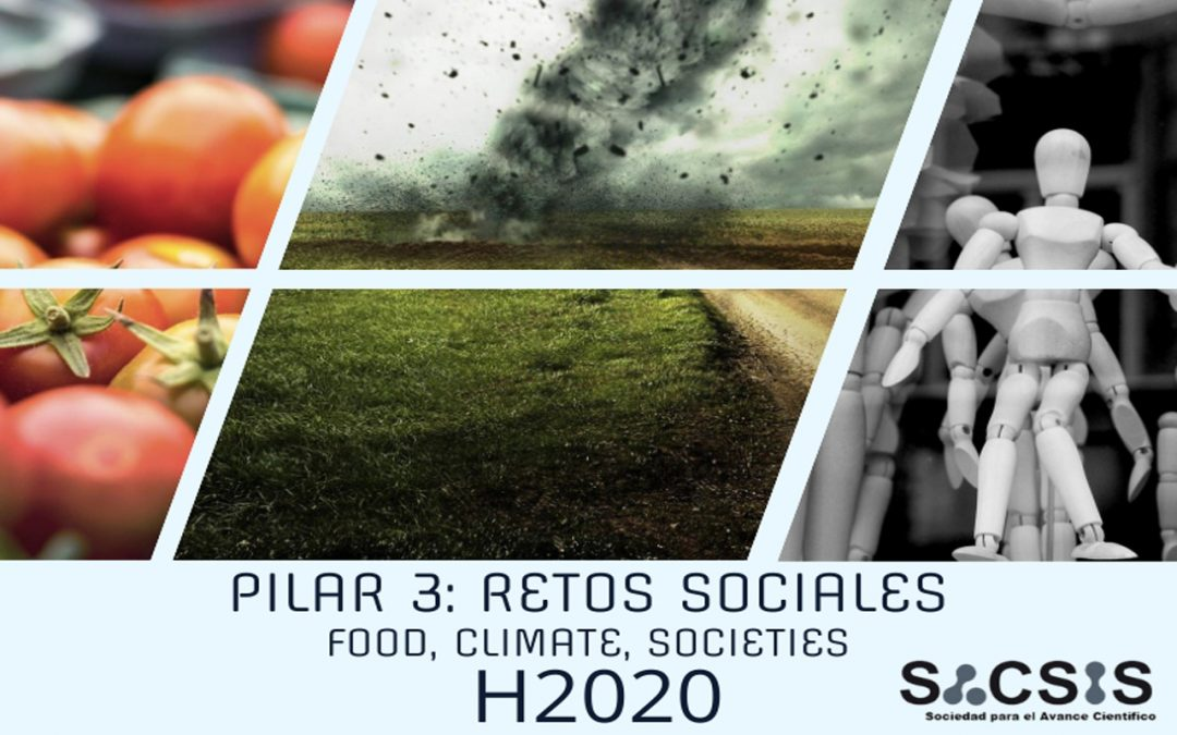 Últimas convocatorias H2020 Pilar 3: Retos sociales -food, climate, societies-