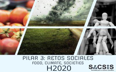 Últimas convocatorias H2020 Pilar 3: Retos sociales -food, climate, societies-