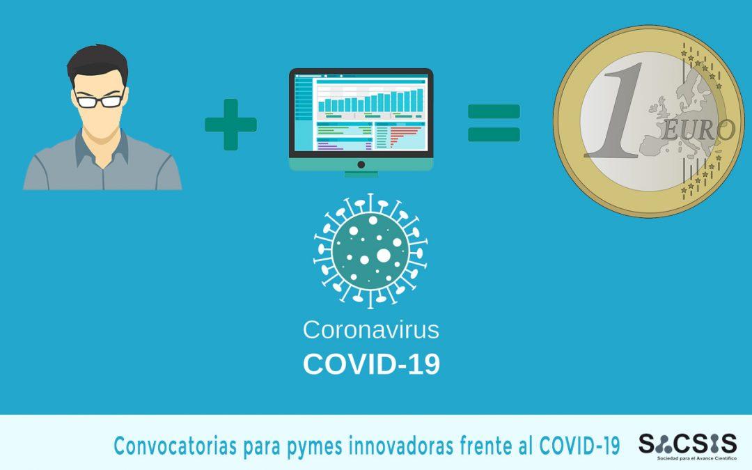 CONVOCATORIAS PARA EMPRESAS INNOVADORAS RELACIONADAS CON LA SITUACIÓN DE EMERGENCIA FRENTE AL COVID-19
