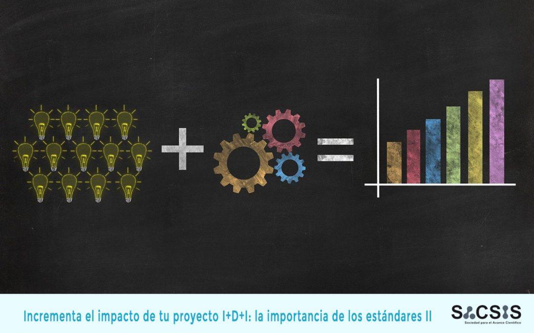 Incrementa el impacto de tu proyecto I+D+I: la importancia de los estándares (II)