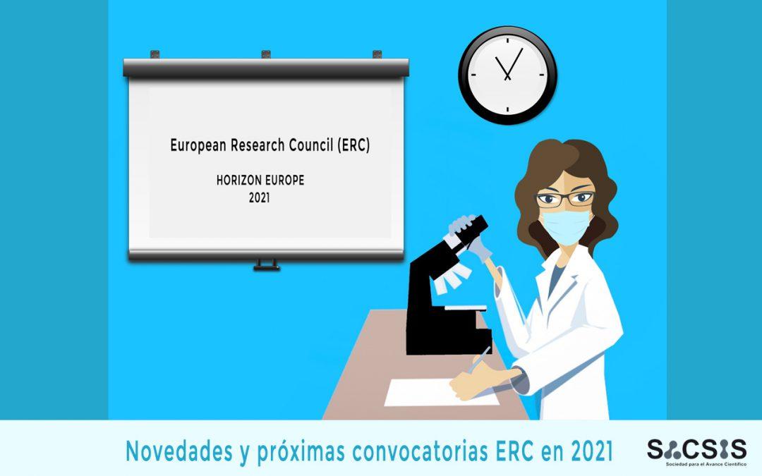 Novedades y próximas convocatorias del European Research Council (ERC)