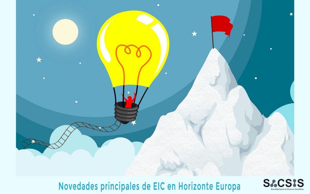 Novedades principales de European Innovation Council (EIC) en Horizonte Europa