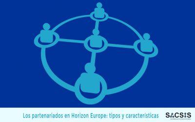 Los partenariados en Horizon Europe: tipos y características