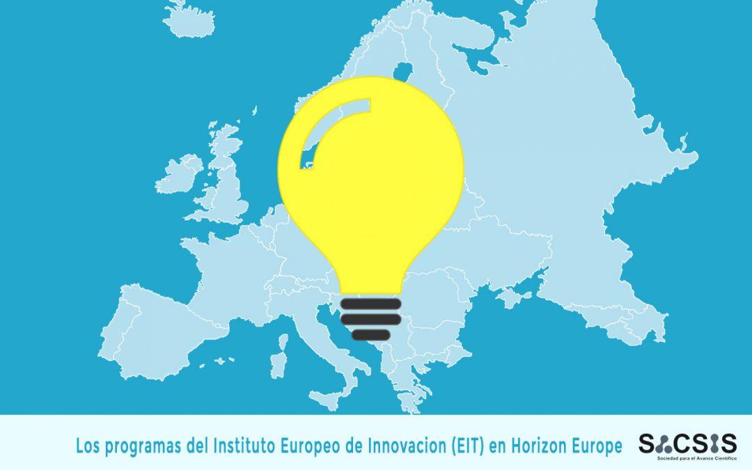 Los programas del Instituto Europeo de Innovación (EIT) en Horizon Europe