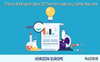Criterios de Evaluación para el EIC Transition 2021: cuáles son y cuántas fases tiene