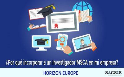 ¿Por qué incorporar a un investigador Marie Curie (MSCA) en mi empresa?