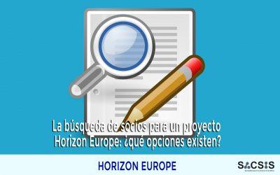 La búsqueda de socios para un proyecto Horizon Europe: ¿qué opciones existen?