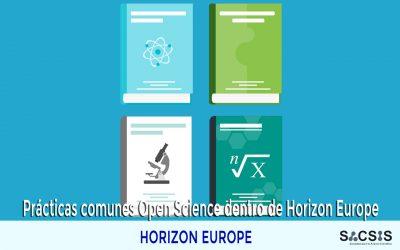 Prácticas comunes Open Science dentro de Horizon Europe