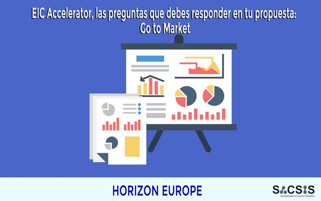 EIC Accelerator: las preguntas que debes responder en tu propuesta: Go to Market