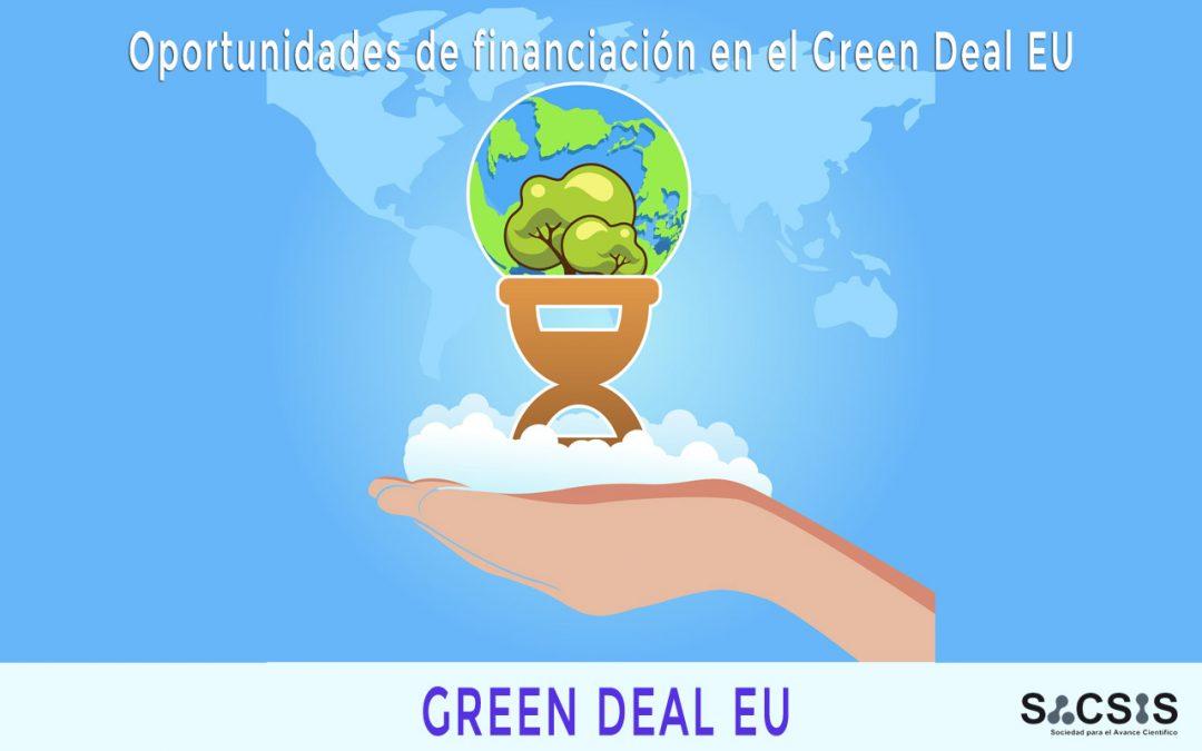 Oportunidades de financiación en el Green Deal EU