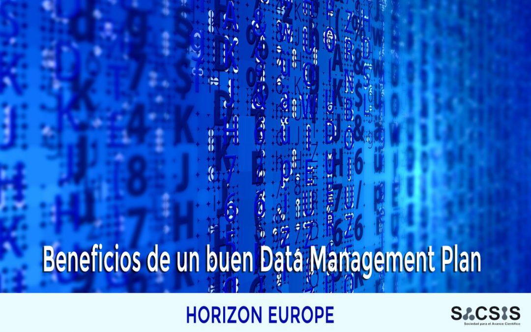 Beneficios de un buen Data Management Plan (DMP) en proyectos Horizon Europe