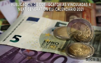Publicación de convocatorias vinculadas a Next Generation EU: calendario 2021
