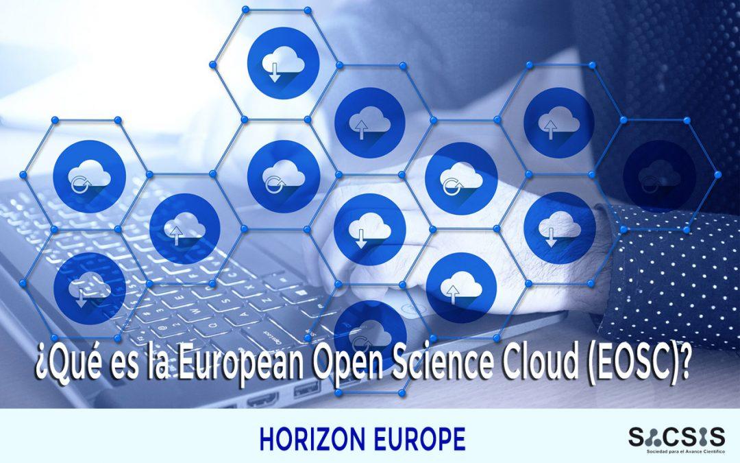 ¿Qué es la European Open Science Cloud (EOSC)?